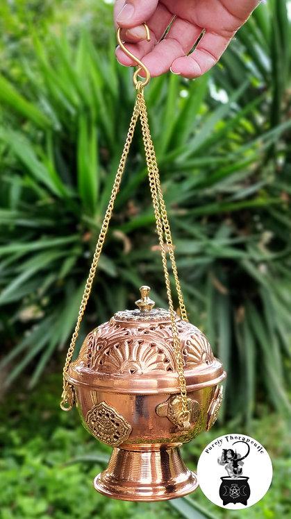 Brass & Copper Charcoal Resin Cone Sensor (Holder)