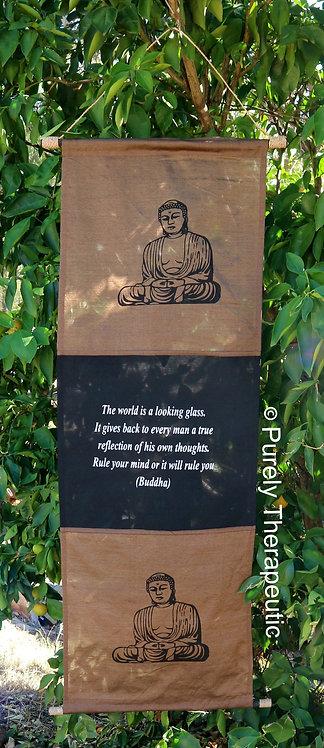 Buddha Inspirational Quote Wall Scroll Flag