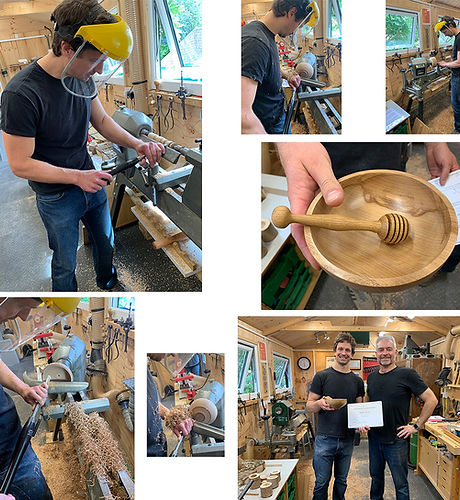 Mathew loved his woodturning tuition with Simon at Blended Monkey