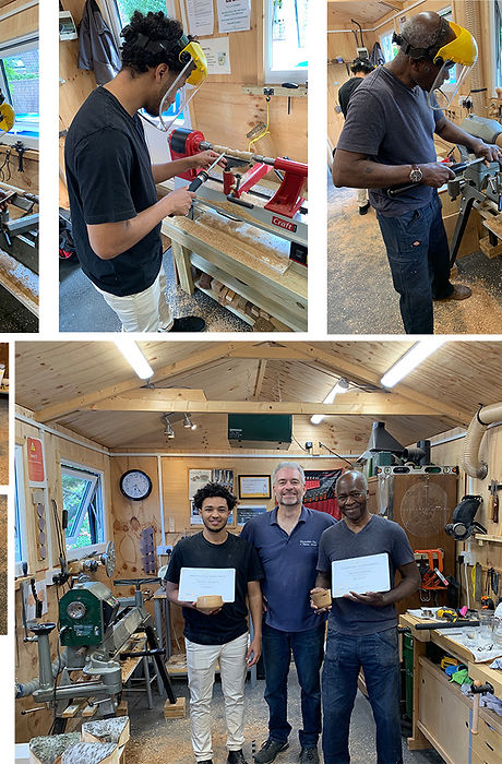 Michael & Timothy loved their woodturning workshop with Simon at Blended Monkey