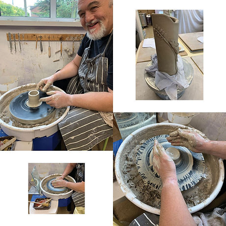Mark had a creative day on his Blended Monkey pottery workshop