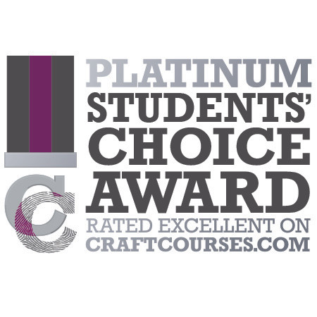 This is our platinum award presented to us by craftcourses.com