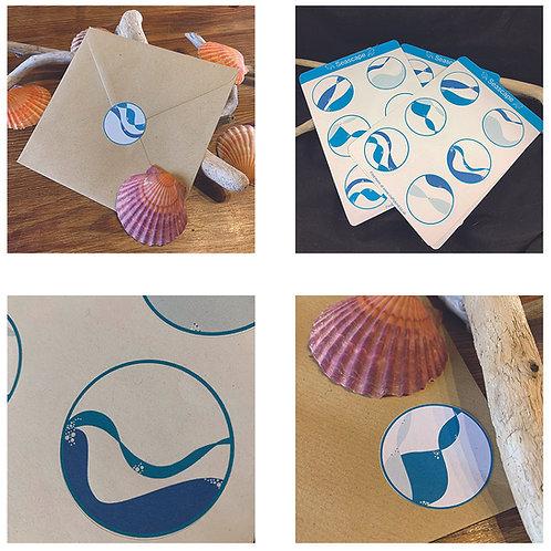 Seascape Stickers (6 unique)