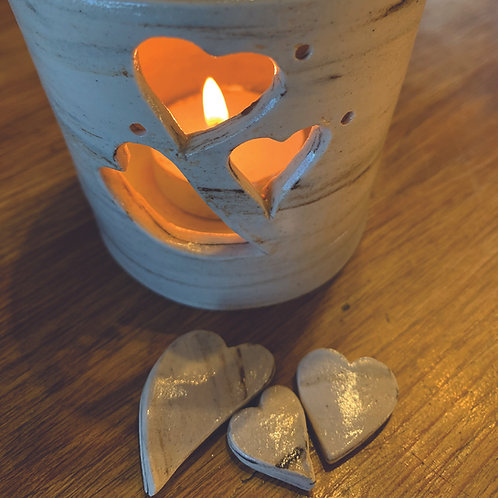 Marbled Hearts Votive