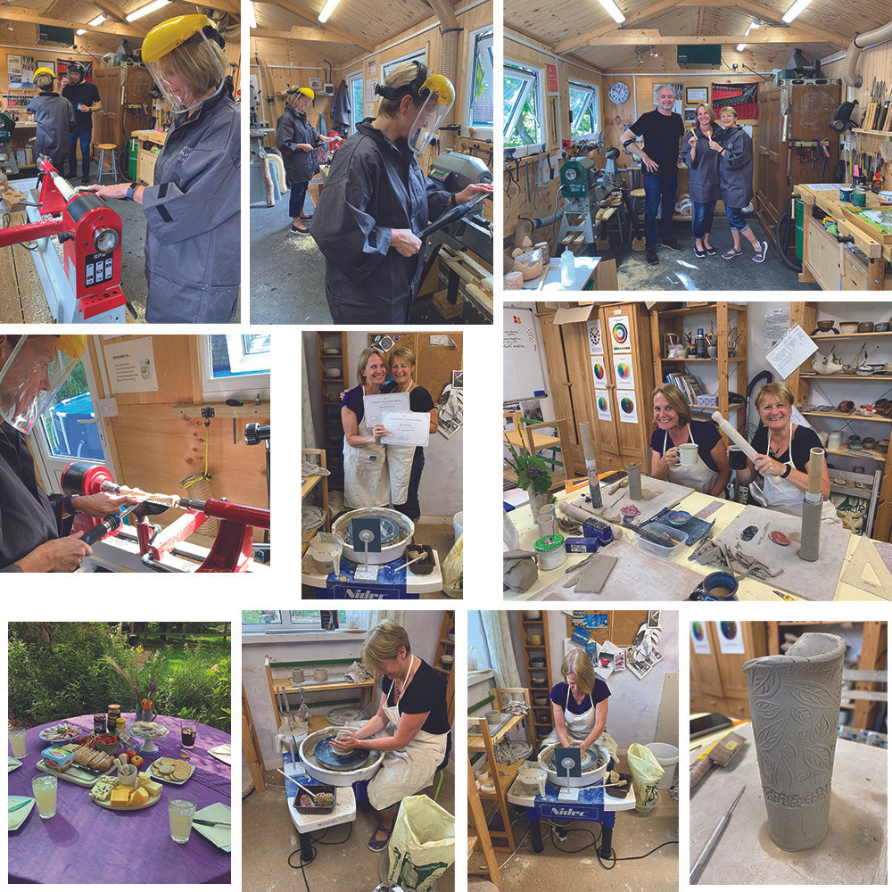 Students enjoying their 2 Crafts in 1 Day workshop