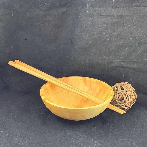 Sycamore Dumpling Bowl with Chopsticks