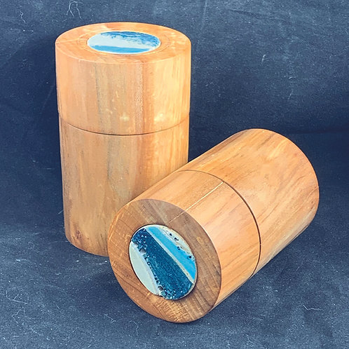 Pair of Pear Seascape Boxes