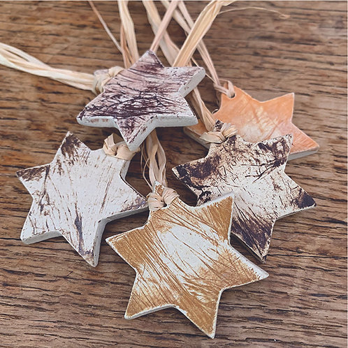 10 x Rustic Stars - Trinkets/Gift Tags/Love Tokens