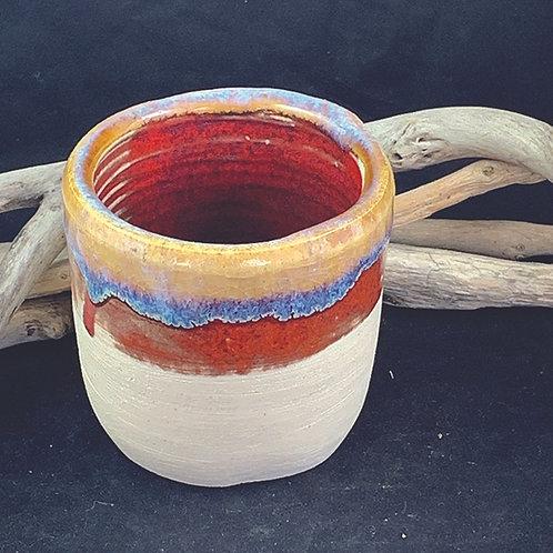 Red & Ochre Pot