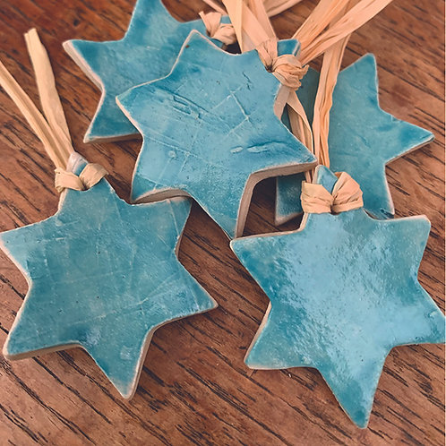 10 x Turquoise Stars - Trinkets/Gift Tags/Love Tokens