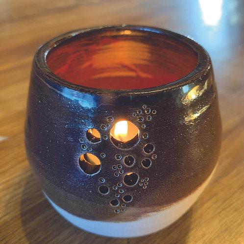 Chestnut & Burnt Orange Bubble Votive