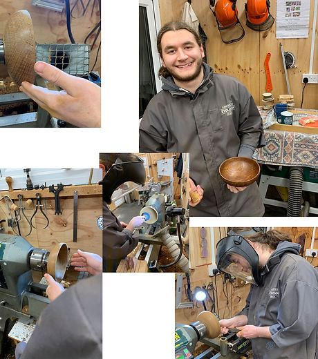 Tom made some lovely woodturned pieces with Simon here at Blended Monkey