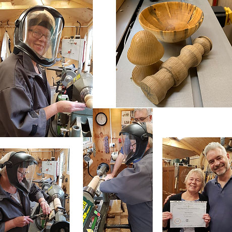 Janet made some gorgeous pieces in her Blended Monkey woodturning workshop