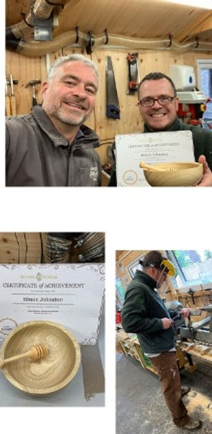 Simon enjoyed his woodturning workshop with us here at Blended Monkey