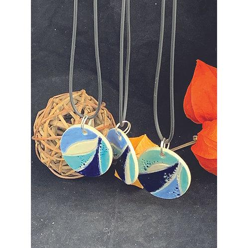 Seascape ceramic necklace