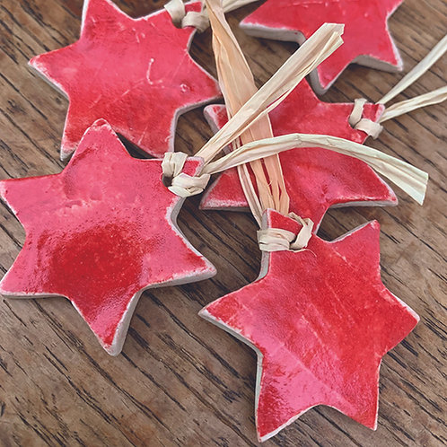 10 x Red Stars - Trinkets/Gift Tags/Love Tokens