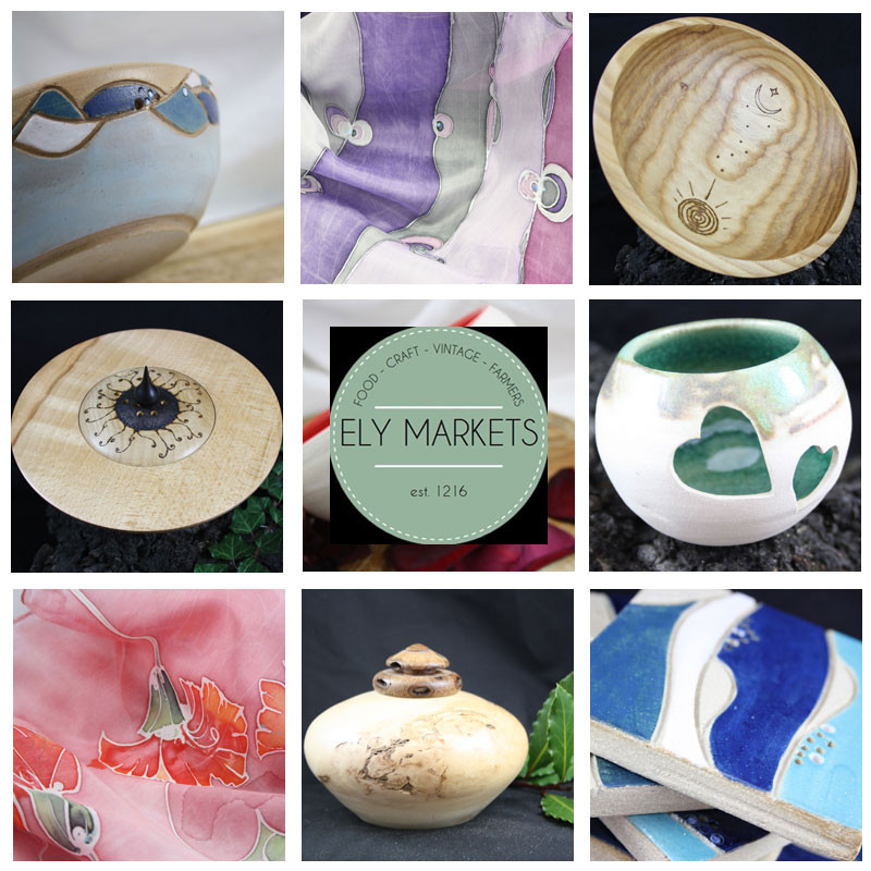 We offer unique handmade ceramic, wood and silk pieces