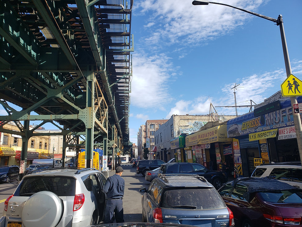 Shops along Jerome Avenue in the Bronx