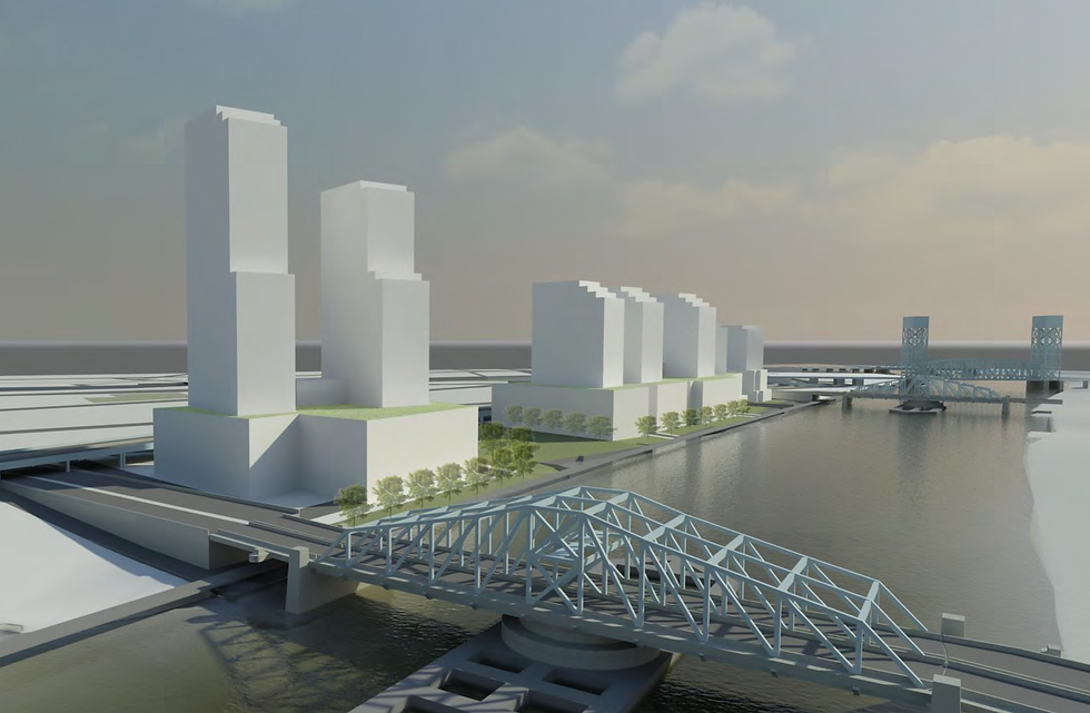 New construction for the Bronx waterfront architect's rendering