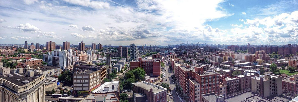 Aerial view of the South Bronx