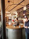Bar counter at the Bronx Brewery