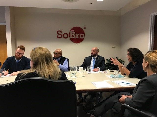 Sobro board meeting at the Bronx office