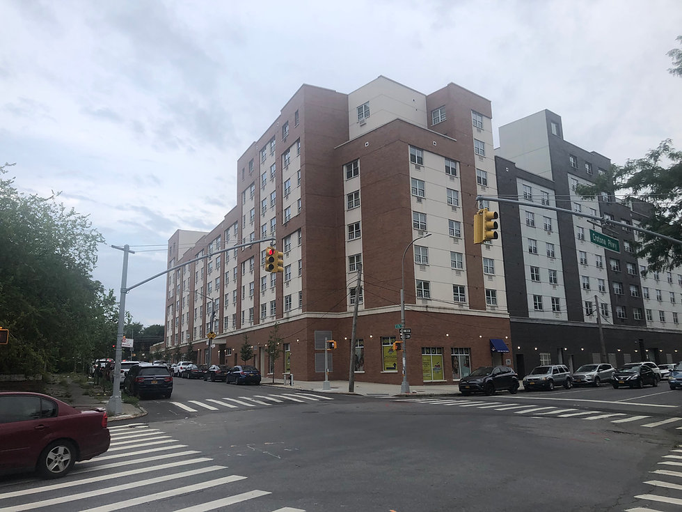 Apartment building in the Bronx
