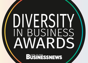 """Recognized with the """"Diversity in Business Award"""" by the Long Island Business News"""