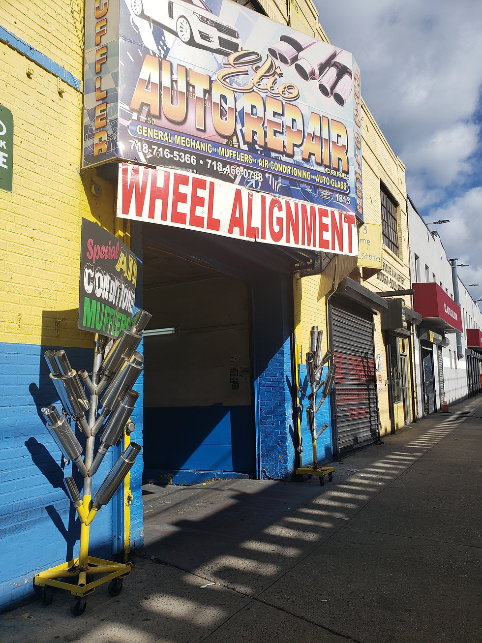 Auto repair shop on Jerome Avenue in the Bronx
