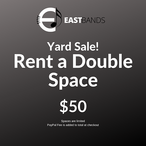 Yard Sale Double Space Rental