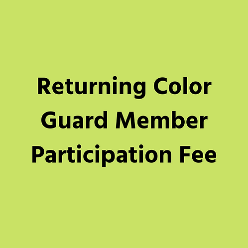 MB Returning Color Guard Opt B - Payment 4 - Oct 5