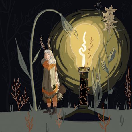 Moth Girl Illustration