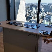 カウンター型分煙テーブルは空気清浄機サービス
