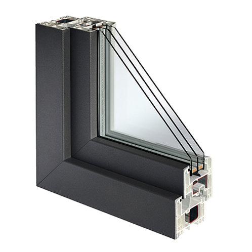 Fenêtre PVC capo extérieur aluminium