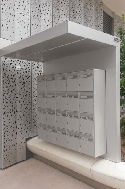 Casquette de boîte au lettre pour bloc de boîte aux lettre,  LED, interphone