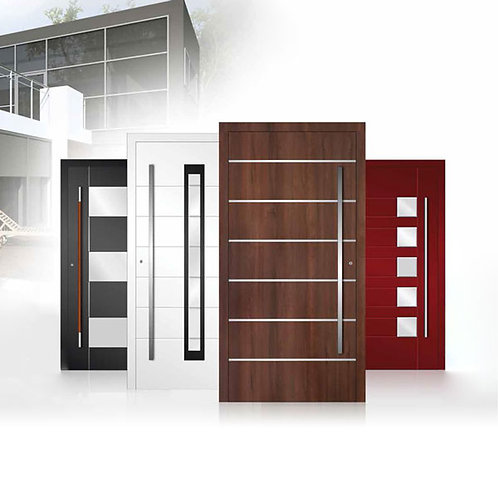 Porte d'entrée PVC, aluminium, acier, inox