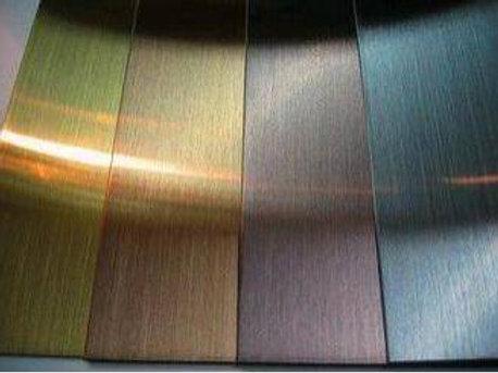 Inox teinté anodisé d'usine avec motif et déco à choix