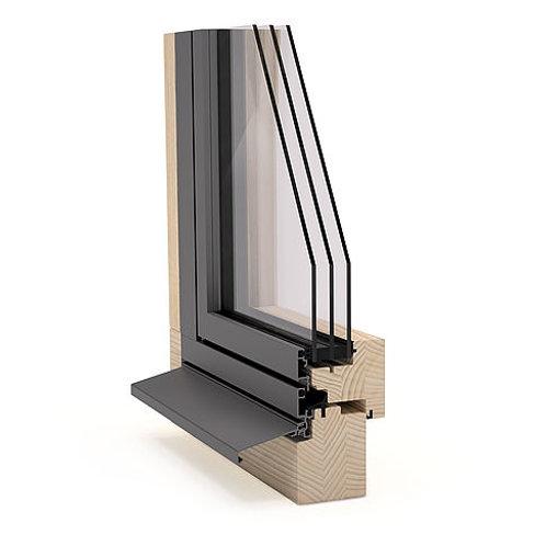 Fenêtre bois capot extérieur aluminium fin
