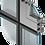 Façade poteaux travers aluminium / verre-panneaux sandwich-extracteur de fumée