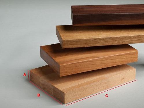 Marche d'escalier en bois essence à choix et teinte à choix