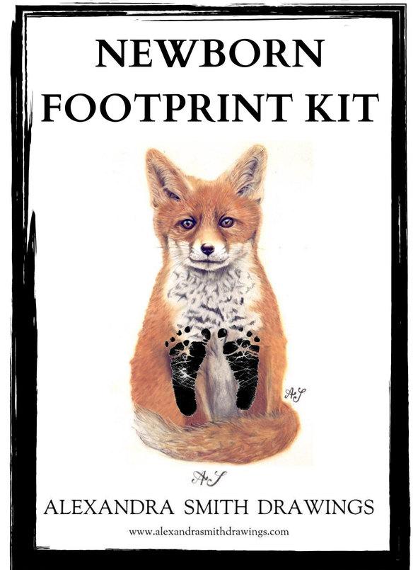 Newborn Footprint Kit Fox