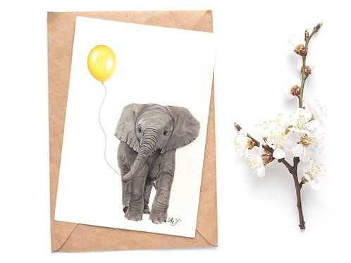 Elephant - Yellow Balloon