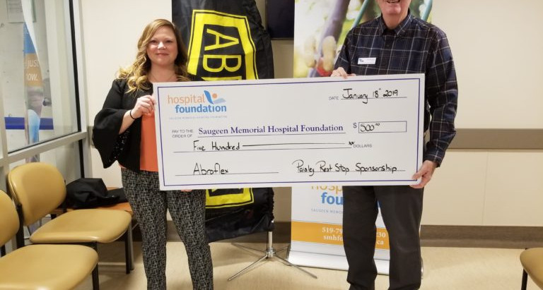 Saugeen Memorial Hospital Foundation Welcomes Abraflex as the Returning Paisley Rest Stop Host