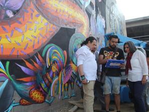 SeCultura supervisa avance del mural de la Lengua Materna