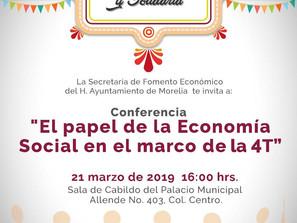 Morelia, ciudad pionera en impulsar el sector social de la economía