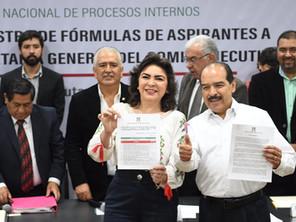 Oficial Ivonne Ortega y Alfaro Cázares candidatos al CEN del PRI