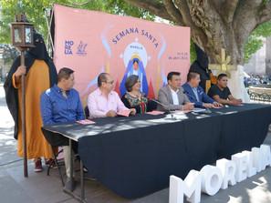 "Sectur Morelia presenta programa de ""Semana Santa 2019"""