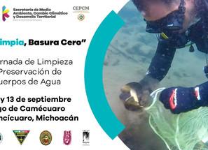 Semaccdet realizará 3ª Jornada de Limpieza y Preservación en el Lago de Camécuaro.