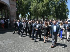 Asiste Raúl Morón Orozco a CDLIV Aniversario Luctuoso de Vasco de Quiroga.