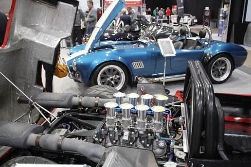 GD cobra replica's and T70 spyders at Stoneleigh Kit car show